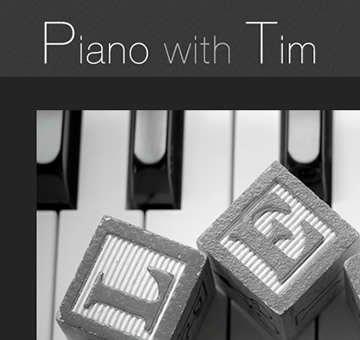 Piano With Tim website